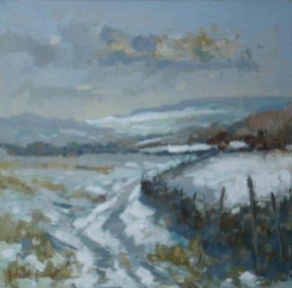 Michael Ewart-Cheviot Winter-Oil on board-30x30cm-£570-A