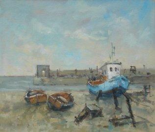 Michael Ewart-Dry Boats-Oil on board-30x35cm-£560-A