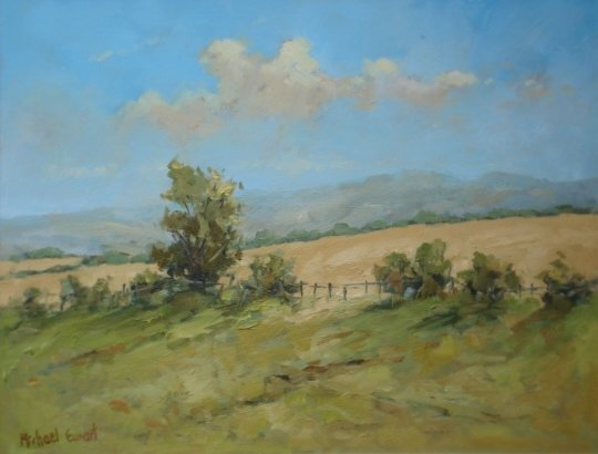 Michael Ewart-Summer Fields-Oil on board-30x38cm-£580-A