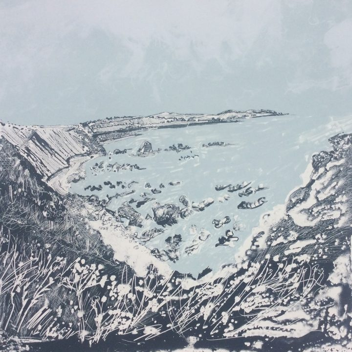 SOLD-Kevin Peden-Over the Killies to St Abbs-Limited edition screen print-£300-C
